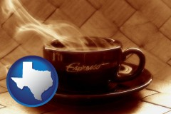 texas a cup of espresso coffee