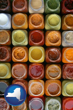 sauces - with New York icon