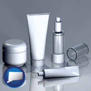 cosmetics packaging - with Connecticut icon