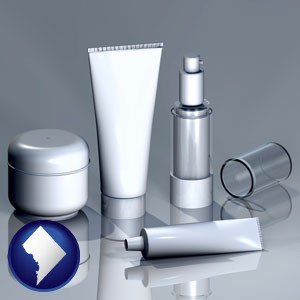 cosmetics packaging - with Washington, DC icon