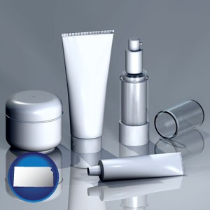 cosmetics packaging - with Kansas icon
