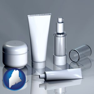 cosmetics packaging - with Maine icon