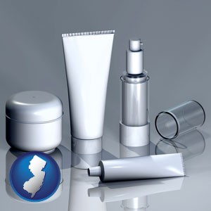 cosmetics packaging - with New Jersey icon