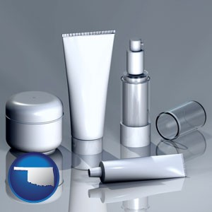 cosmetics packaging - with Oklahoma icon