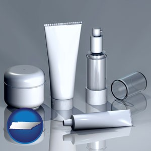 cosmetics packaging - with Tennessee icon