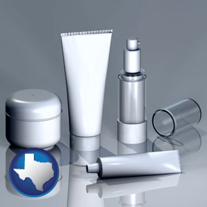 cosmetics packaging - with Texas icon
