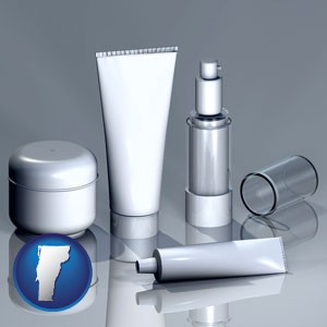 cosmetics packaging - with Vermont icon