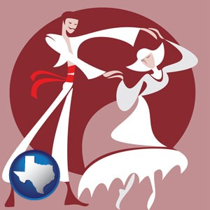 folk dance clothing - with Texas icon