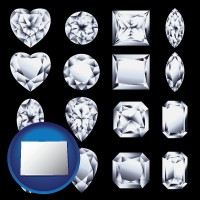 colorado sixteen diamonds, showing various diamond cuts