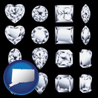 connecticut sixteen diamonds, showing various diamond cuts