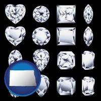 north-dakota sixteen diamonds, showing various diamond cuts