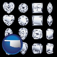 oklahoma sixteen diamonds, showing various diamond cuts