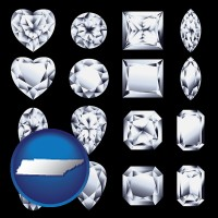 tennessee sixteen diamonds, showing various diamond cuts