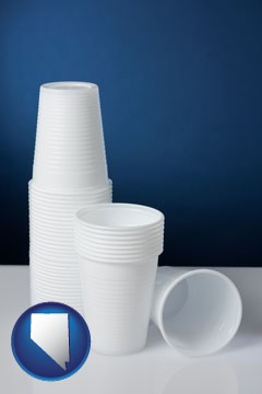 disposable cups - with Nevada icon