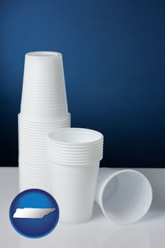 disposable cups - with Tennessee icon