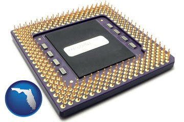 a microprocessor - with Florida icon