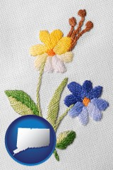 connecticut hand-embroidered needlework