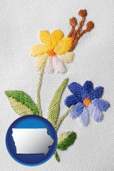 iowa hand-embroidered needlework