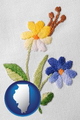 illinois hand-embroidered needlework