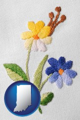 indiana hand-embroidered needlework