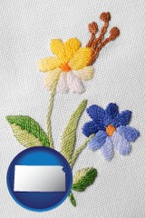 kansas hand-embroidered needlework