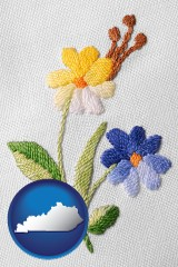 kentucky hand-embroidered needlework