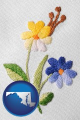 maryland hand-embroidered needlework