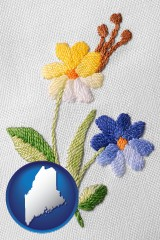 maine hand-embroidered needlework