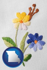 missouri hand-embroidered needlework