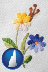 new-hampshire hand-embroidered needlework