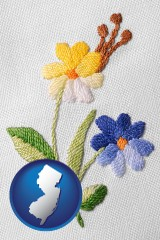 new-jersey hand-embroidered needlework