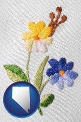 nevada hand-embroidered needlework