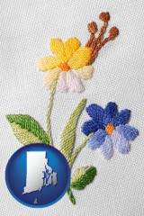 rhode-island hand-embroidered needlework