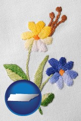 tennessee hand-embroidered needlework
