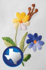 texas hand-embroidered needlework