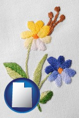 utah hand-embroidered needlework
