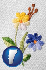 vermont hand-embroidered needlework