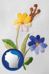 wisconsin hand-embroidered needlework