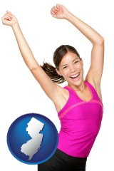 new-jersey a happy young woman wearing fitness clothing