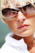 a young woman wearing sunglasses