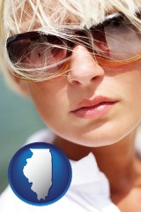 illinois a young woman wearing sunglasses
