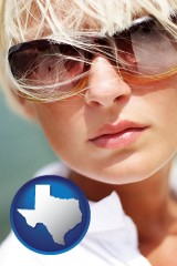 texas a young woman wearing sunglasses