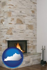 kentucky a limestone fireplace