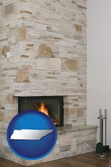 tennessee a limestone fireplace