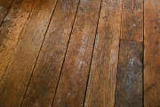 a distressed wood floor