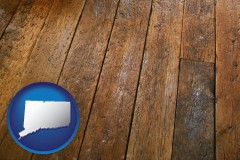 connecticut a distressed wood floor