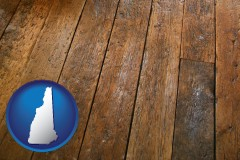 new-hampshire map icon and a distressed wood floor