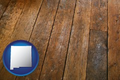 new-mexico a distressed wood floor