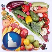 id map icon and fruits and vegetables