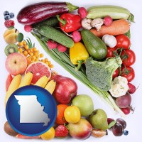 mo map icon and fruits and vegetables